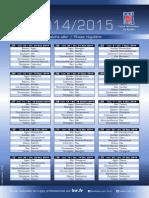 Calendrier 2014-2015 du Top 14 pour le CSBJ