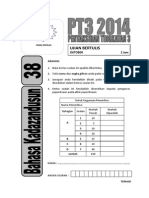 2014 PT3 38 Bahasa Kadazandusun