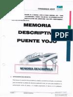 Memeoria Descriptiva Puente Yojo