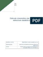 Cálculo cinemático de una estructura isostática