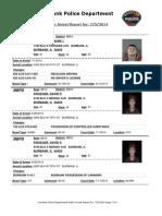 public arrest report for  752014