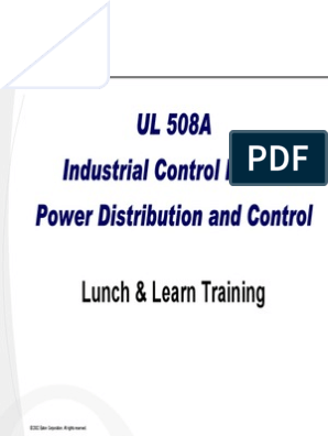 UL 508A | Fuse (Electrical) | Electronic Circuits