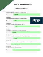 Lenguaje Programacion III - Autoevaluación