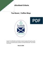 EatScotland- Criteria for Tea Room or Coffee Shop