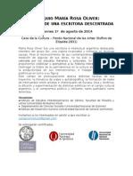 Programa Coloquio María Rosa Oliver