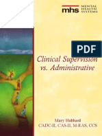 Clinical Supervision vs Administrative