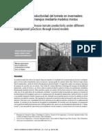 Análisis de La Productividad Del Tomate en Invernadero Bajo Diferentes Manejos Mediante Modelos Mixtos