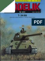 [Modelik 2001 03] - Tank T-34_85