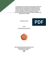Pengaruh Tingkat Pendidikan Dan Pengalaman Kerja Terhadap Implementasi Proses Akuntansi Keuangan