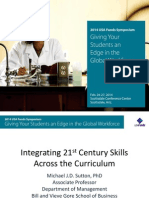 Sutton 2014 SYMP Integrating 21st Century Skills Across the Curriculum V4-R1