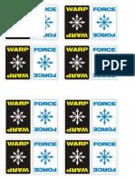 Warhammer 40k 2nd Edition Warp Cards
