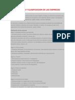 Definicion y Clasificacion de Las Empresas