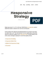Responsive Strategy