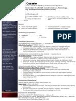 a cesario resume 2013