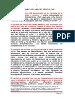 Articulo Sobre El Cambio de La Matriz Productiva en El País