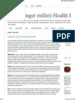 Ragi (Finger Millet) Health Benefits