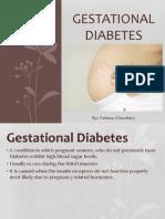 Gestational Diabetes Powerpoint