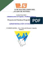 PROYECTO DE  PRÁCTICAS PREPROFESIONALES y HOJA FORMATEADAI