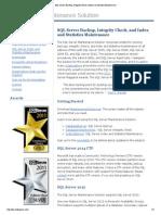 SQL Server Backup, Integrity Check, Index and Statistics Maintenance