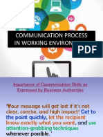 Communication Process in Working Environment