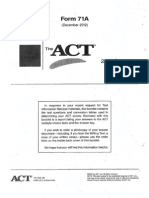 ACT- 2012 December Form 71A