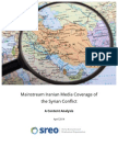 Mainstream Iranian Press Coverage of the Syrian Conflict