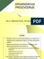 Organizacija proizvodnje