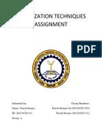 Optimization Techniques Assignment Nk