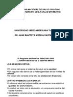 El Programa Nacional de Salud 2001-2006