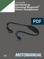S9 BT Headphones English