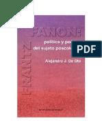 Deoto Alejandro - Frantz Fanon Politica Y Poetica
