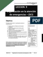 9. Leccion 9 Organizacion en La Atencion de Emergencias (Sci) Pl
