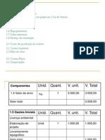 Custo de Implantação e Produção de Peixes