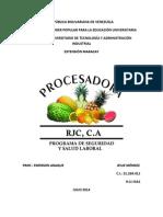 Programa de Ssl Procesadora Rjc, c.A