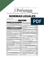 Normas Legales Del Dia Sabado 05 de Julio Del 2014
