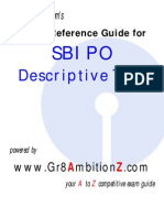 SBI PO Descriptive Test Reference Guide