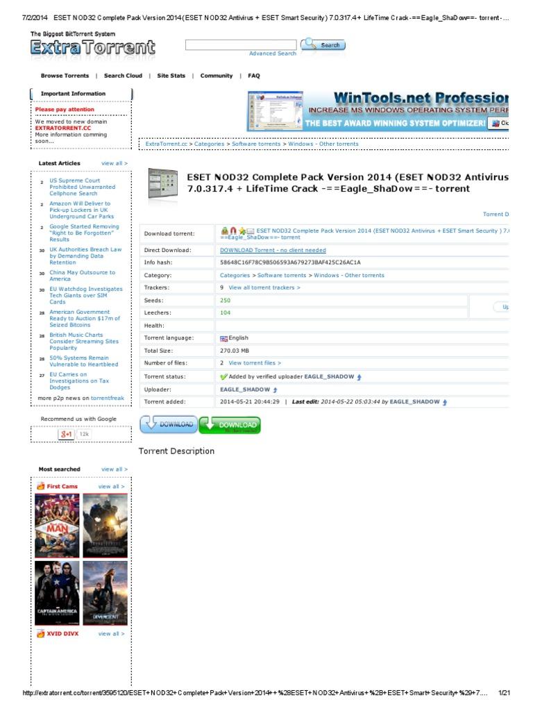 eset nod32 antivirus torrent