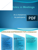 Unit 3.2 Roles in Meeting