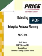 ERP Implementation Effor Estimation