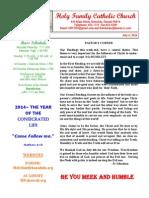 hfc july 6 2014 bulletin 1