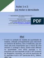 Aulas 1 e 2 (Mol e Massa Molar) – Físico-química