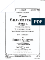 Quilter 3 Shakespear Songs