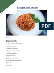 Roasted Red Pepper Basil Pasta Sauce (Vegetarian)