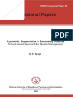 Academic School Supervison