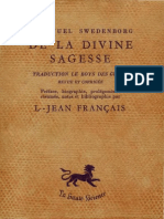 Em Swedenborg TRAITE DE LA DIVINE SAGESSE Hyde197 Louis Jean Français Volume 1sur2 1953