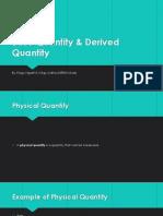 Base Quantity & Derived Quantity