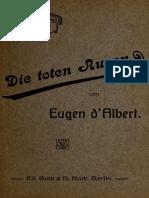 Hanns Heinz Ewers, Marc Henry, Eugen d`Albert - Die Toten Augen