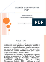 Gestión de Proyectos Pmi