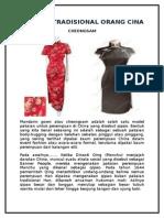 Pakaian Tradisional Orang Cina