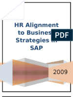 Report on HR Alignment in SAP